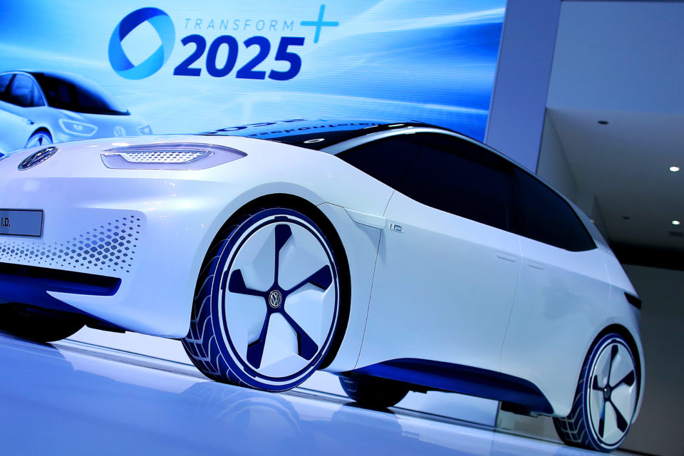 A Volkswagen Electric Id Concept Car On Display In Wolfsburg Northern Germany Wants To Be The World Leader Cars By 2025 Belga