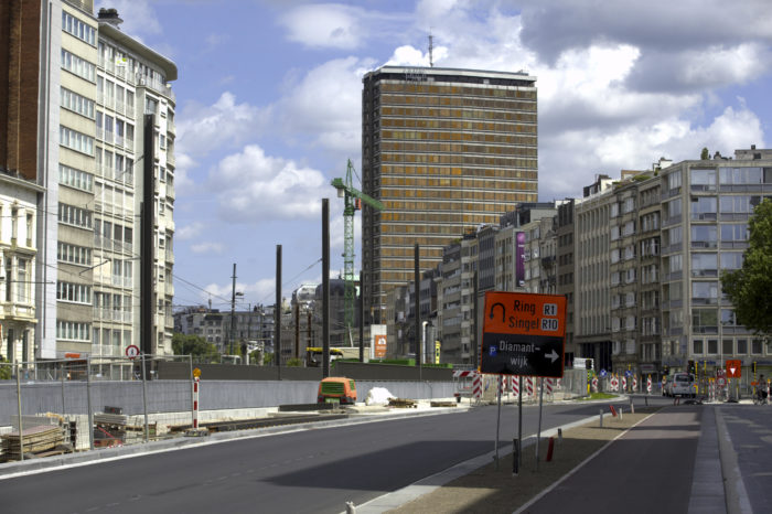 Antwerp road works makes it difficult to enter the city