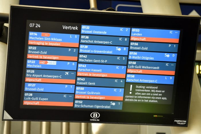 Belgian train punctuality lower despite 21 million euro supercomputer