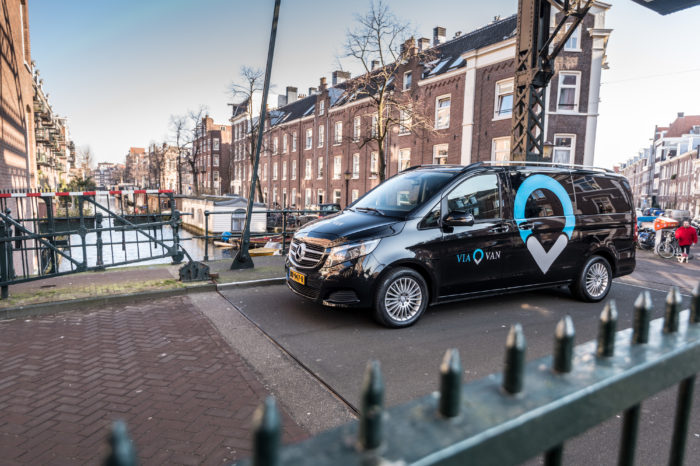 ViaVan launches on-demand shuttle service in Amsterdam