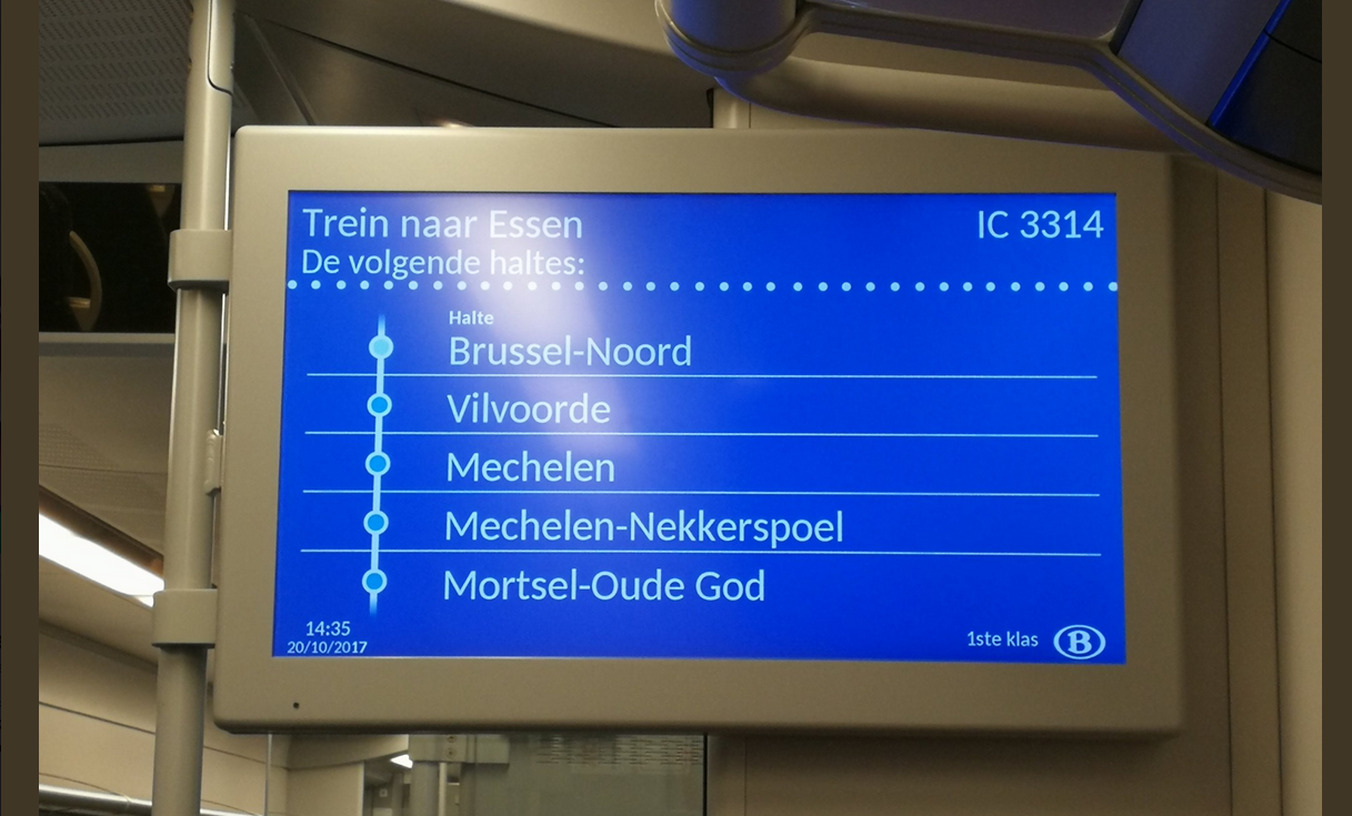 New info screens for one third of all Belgian trains