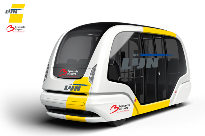 First tests with autonomous bus at Brussels Airport by 2020
