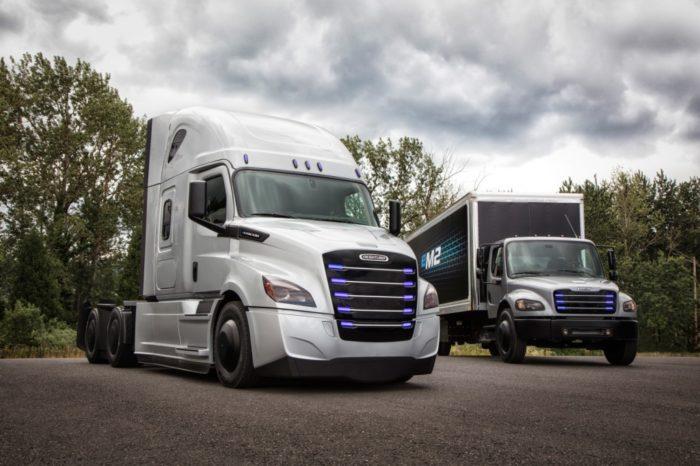 Daimler presents full electric Freightliner semi-trucks