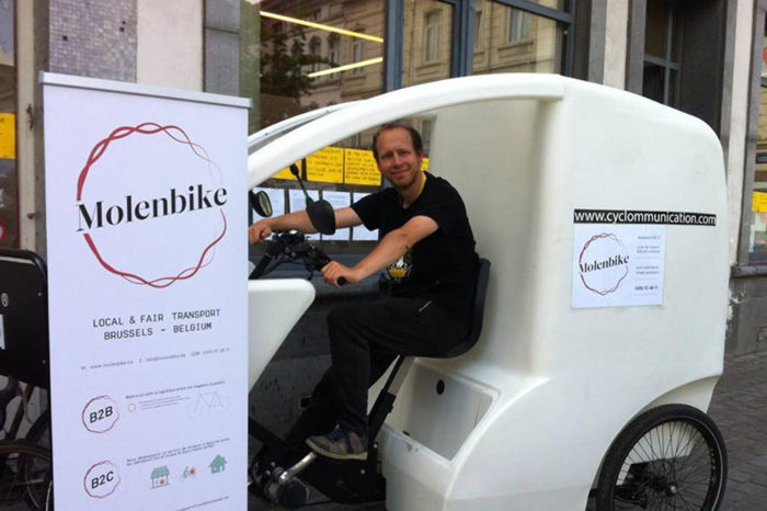 Molenbike: 'green bicycle deliveries faster than cars'