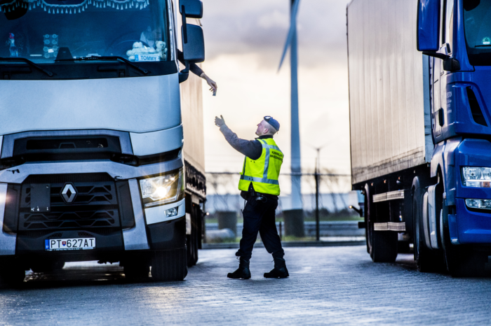 Far fewer checks on trucks in Belgium