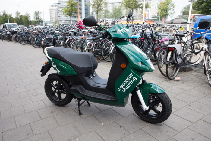 Shared Felyx e-scooter booming in Netherlands