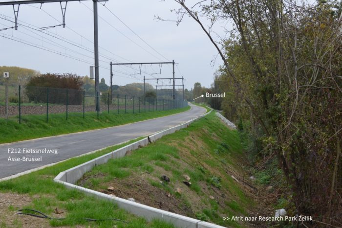 Asse to Brussels in 45 minutes by bike-highway