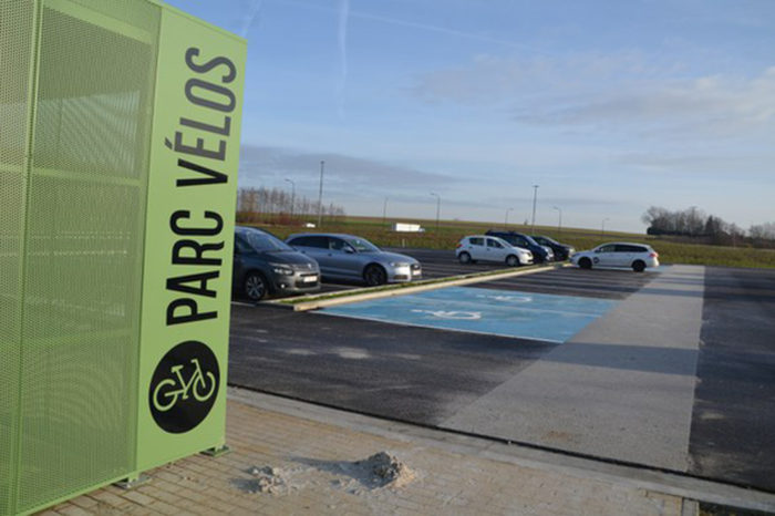 First carpooling car park in Wallonia Picardy