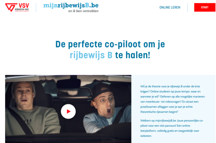 Flanders launches free website for drivers-to-be