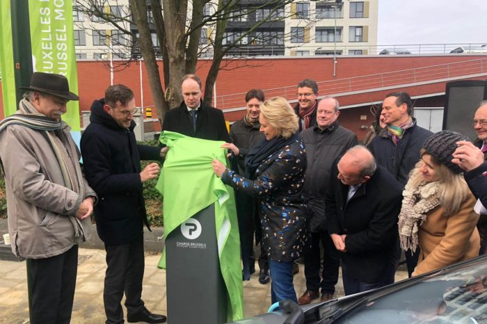 Brussels inaugurates first four electric car charging points