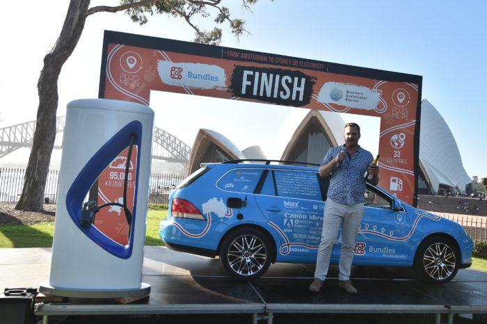 Dutch ends 95.000 km e-car trip successfully in Sydney