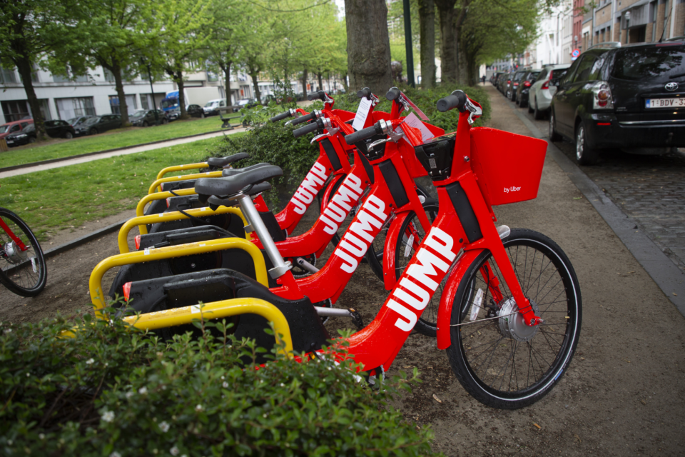 Uber's JUMP kicks off with 500 shared e-bikes in Brussels