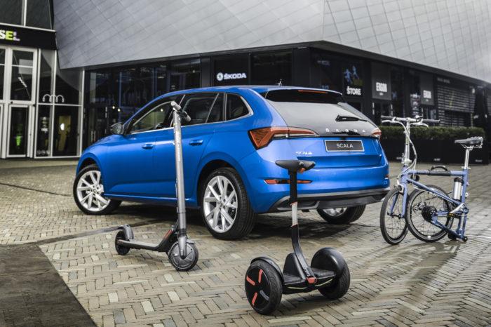 Skoda Belgium tries out multimodal mobility store