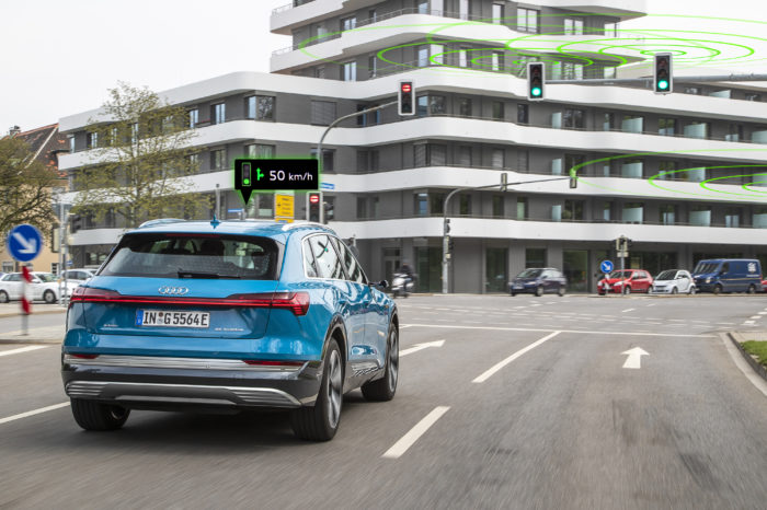 Audis to start communicating with EU traffic lights