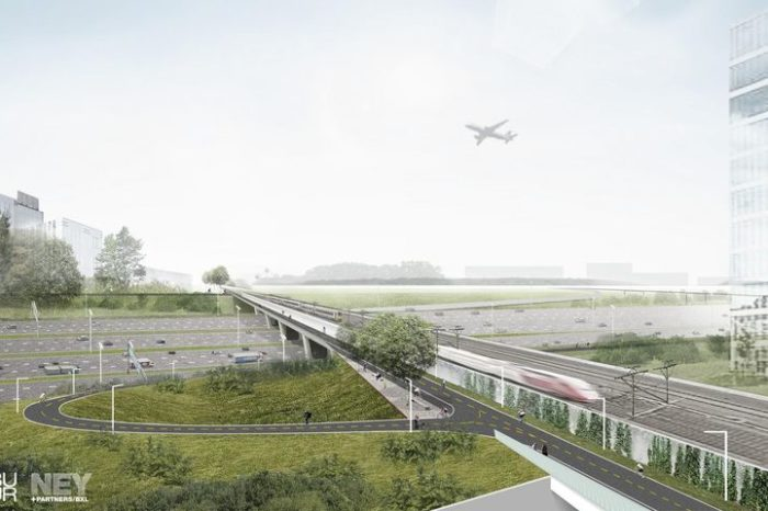 Bicycle bridge over Brussels ring road finally coming