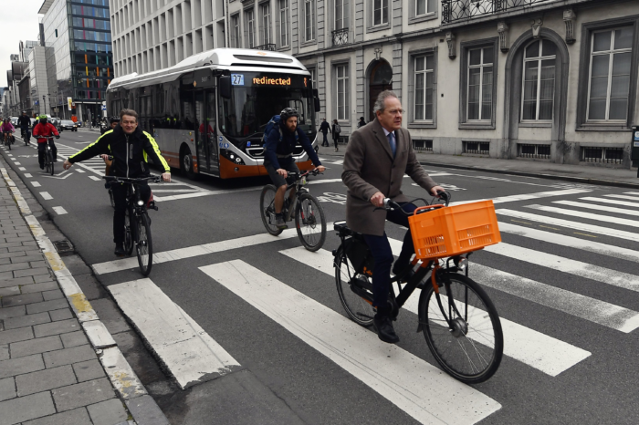 Twice as many Belgians cycle to work