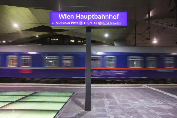 Austrian night trains between Amsterdam, Brussels, and Vienna