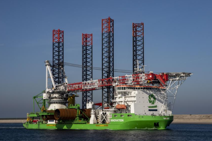 World first: DEME's sea drill for windmill foundations
