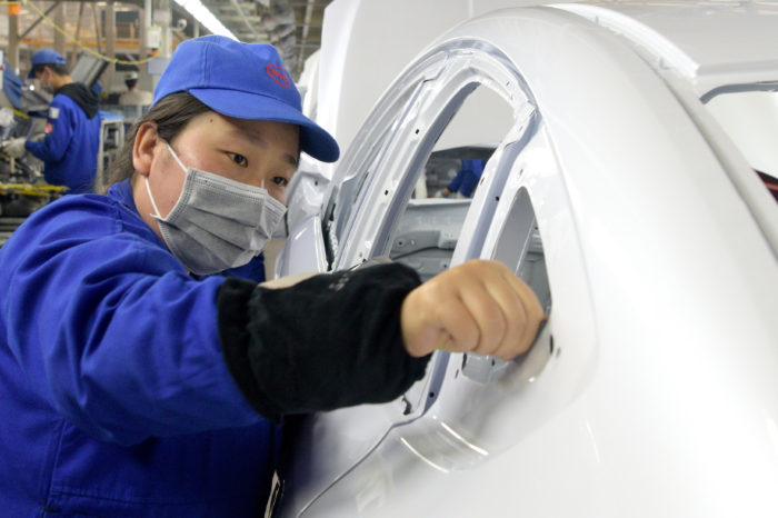 Chinese EV builder BYD mass-produces mouth masks