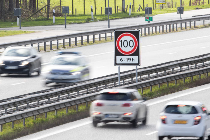 New Dutch traffic signs made out of rice skin