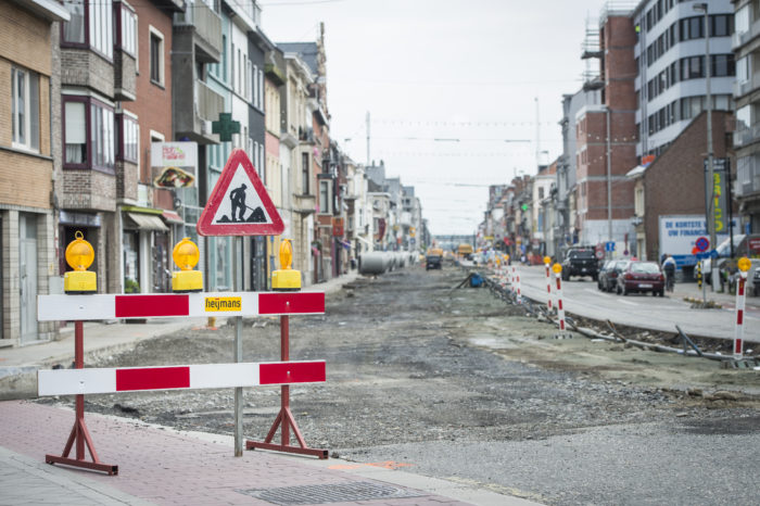 Corona: 95% of Brussels construction sites at standstill