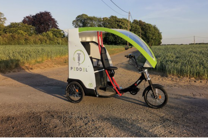 Electric rickshaw is more than tourist attraction in Nivelles