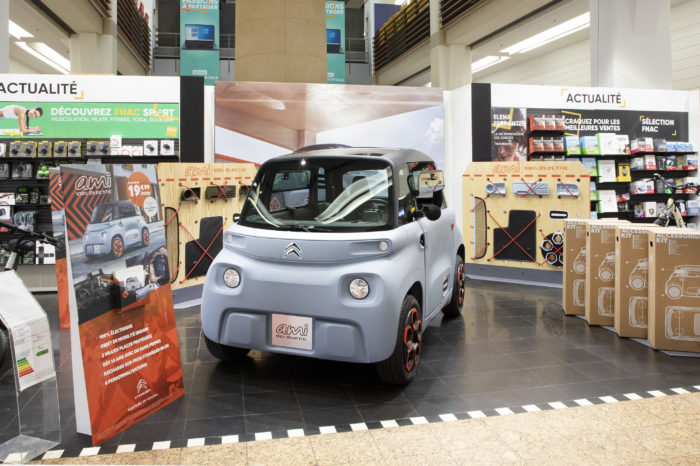 Citroën Ami to be sold in Fnac Darty shops