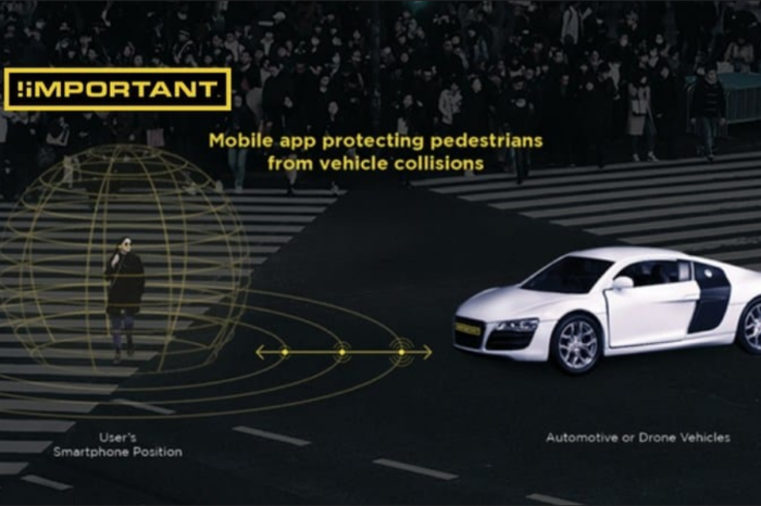 Pedestrian app warns connected car 'I'm here !'