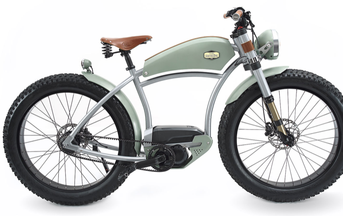 Electric bike with custom-bike design