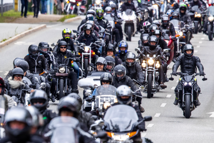 German motorcyclists protest against noise reduction of their bikes