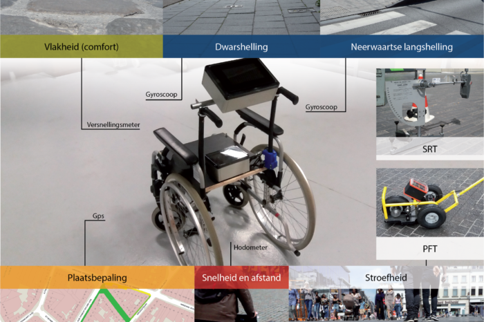 Brussels Mobility uses converted wheelchair to inspect sidewalks