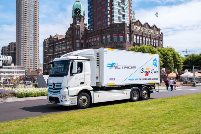 Mercedes eActros expands client tests to Netherlands and Belgium