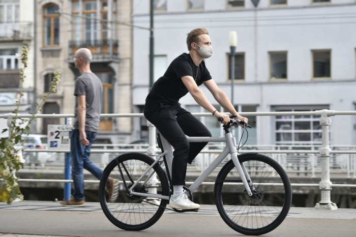 Feelings run high over compulsory mouth masks for cyclists