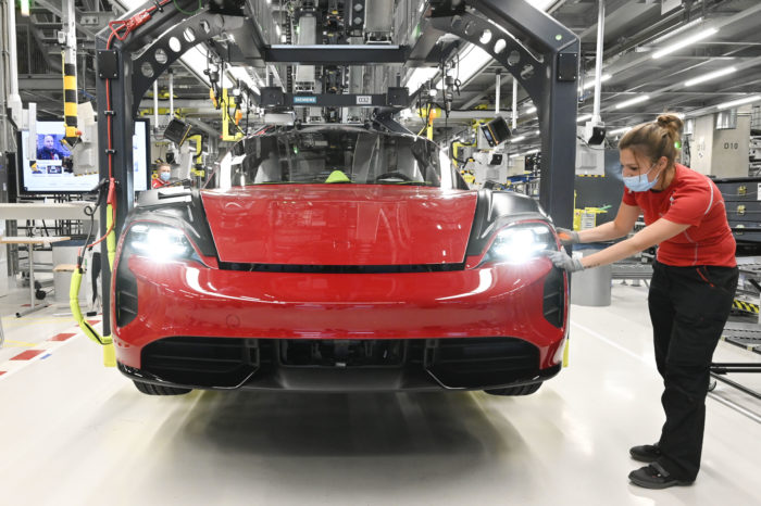 Audi lends Porsche helping hand for Taycan production