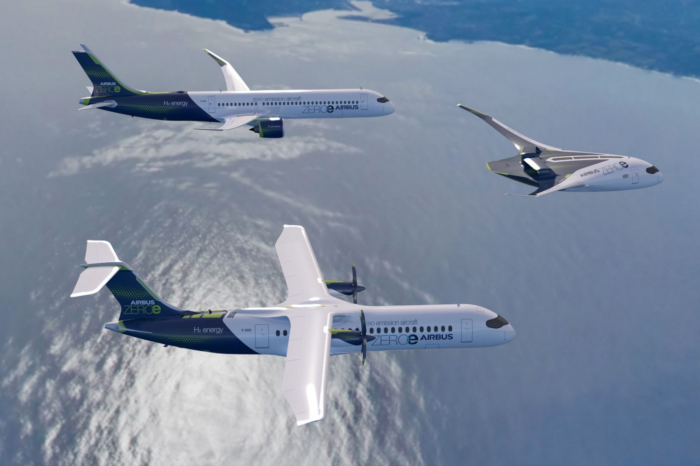 Airbus presents three hydrogen airplane concepts for 2035