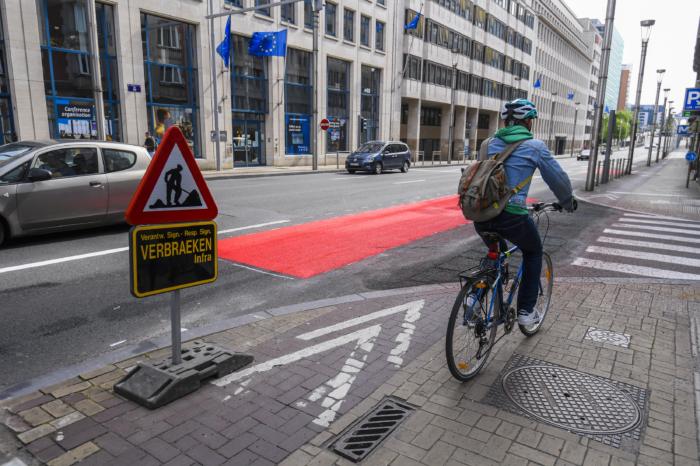 Touring presents alternative Brussels bike plan