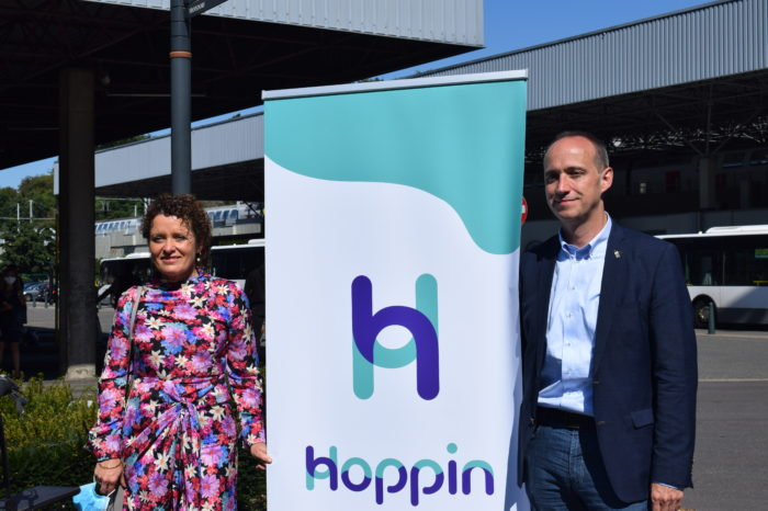 Minister Peeters opens 14 'hop-in points' in Louvain