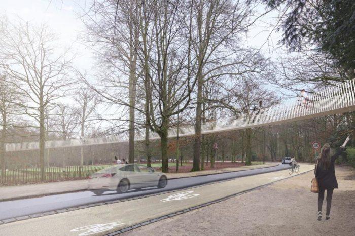 Aerial cycle track for Brussels Bois de la Cambre?