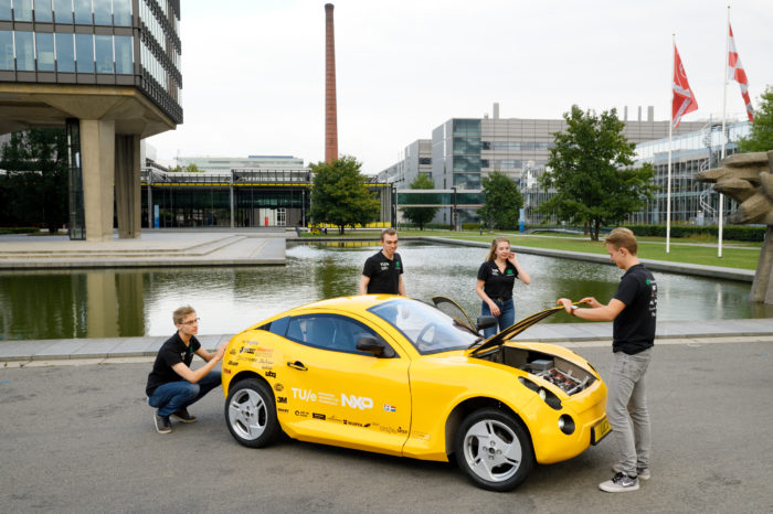 Dutch students build 'waste car' Luca from recycled trash