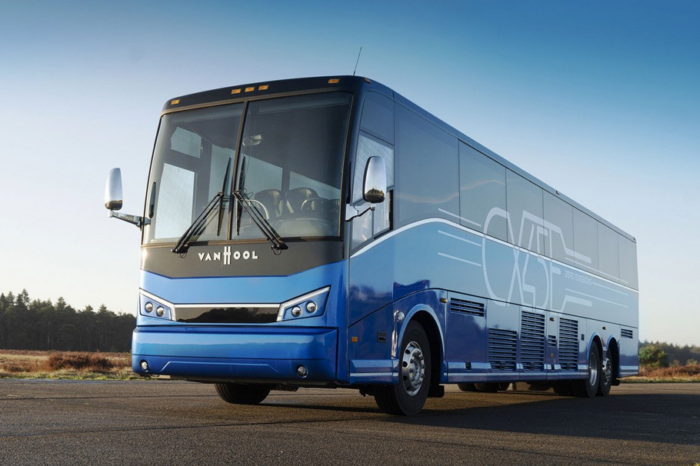 Van Hool ships first of eleven electric coaches to US