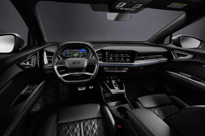 Audi Q4 e-tron features interior with augmented reality