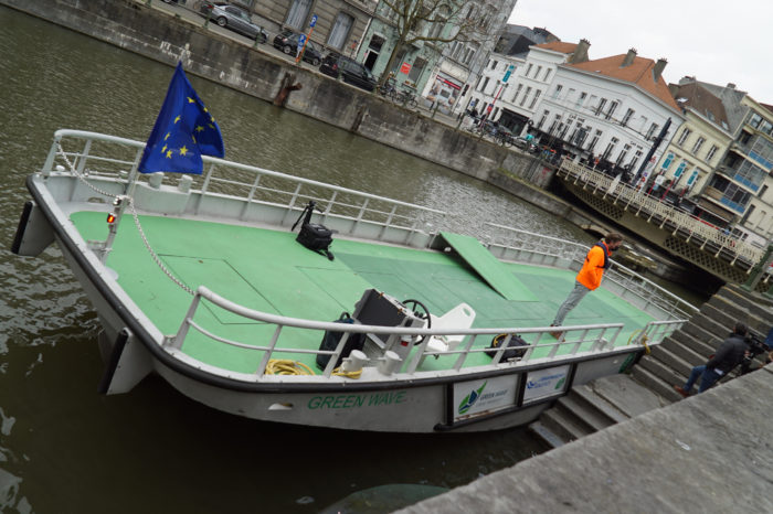 Ghent tests electric building material delivery raft
