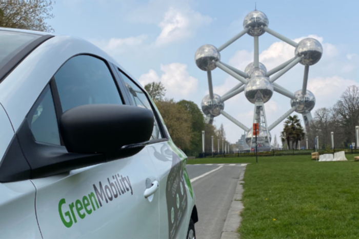 GreenMobility opens three e-car sharing hotspots in Brussels