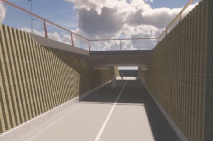 New bicycle tunnel along Woluwe valley opened