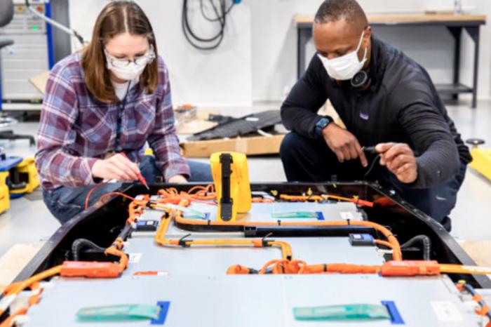 Ford accelerates battery R&D, but chip shortage halves production