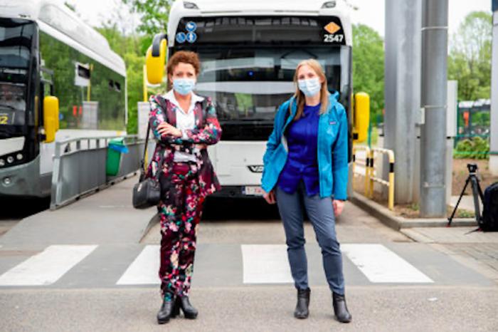 E-buses of De Lijn now also run in Antwerp