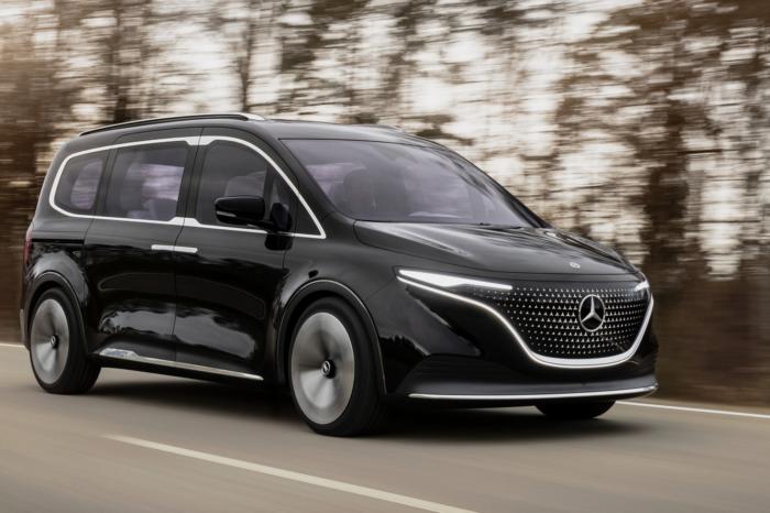 Mercedes shows concept of its future small EQT van