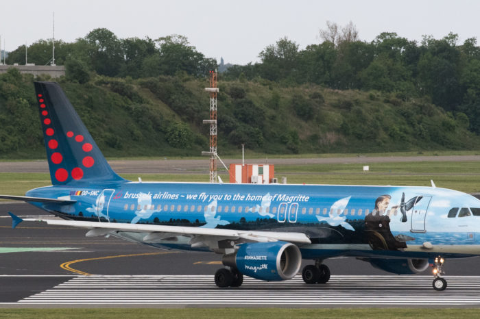 Brussels Airlines waves 'Magritte plane' goodbye