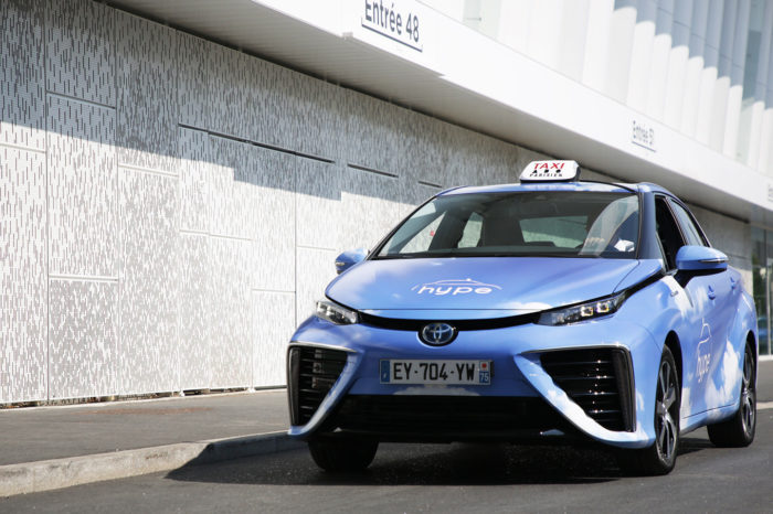 Total invest in Hype's hydrogen taxis