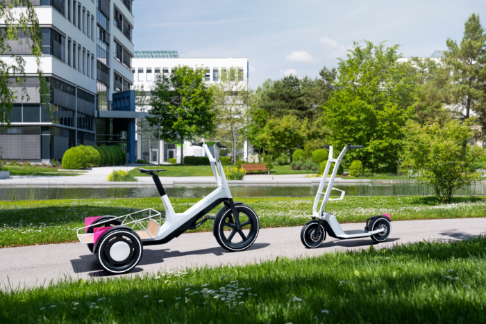 BMW develops 'pick-up' cargo bike and foldable e-scooter
